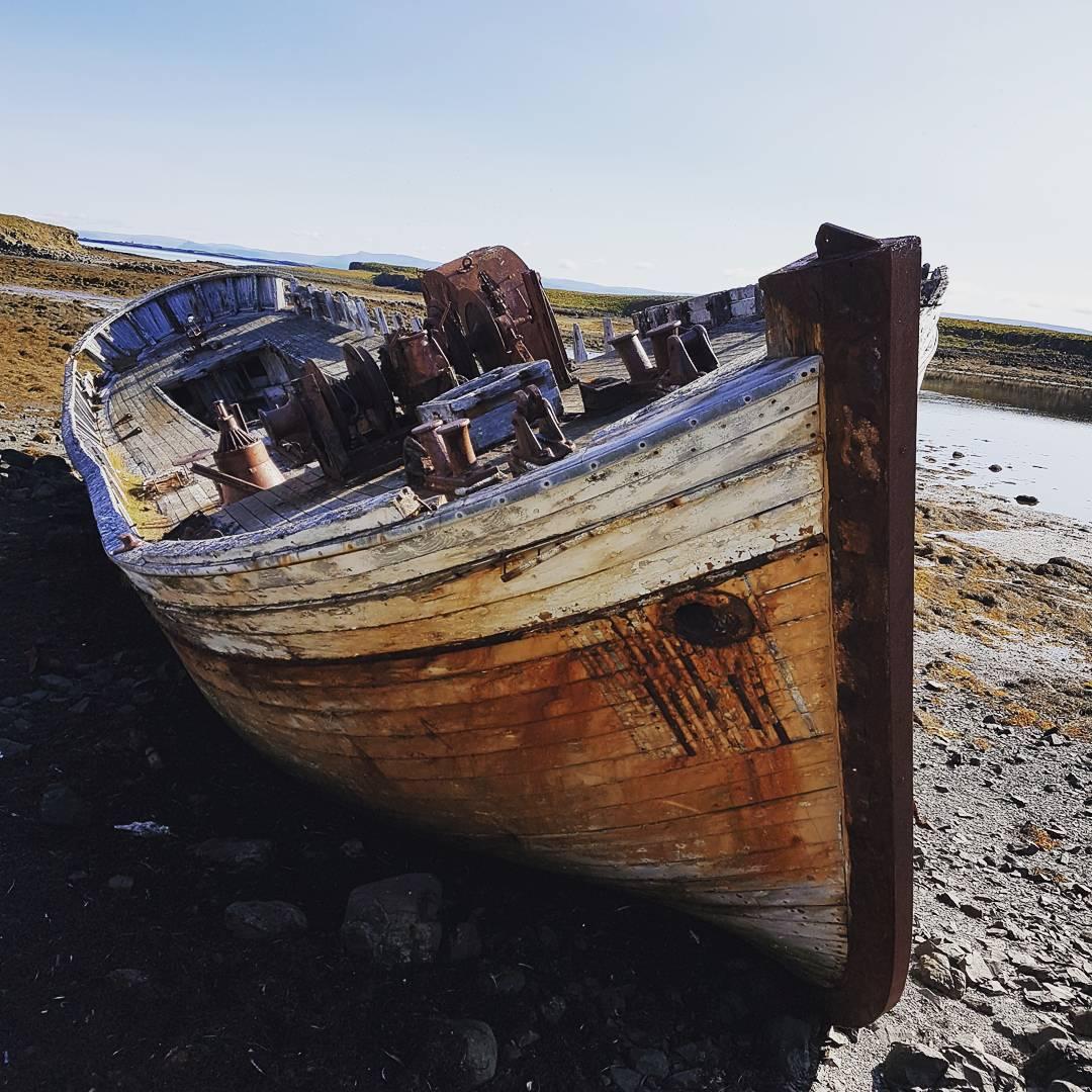 A shipwreck on Flatey island