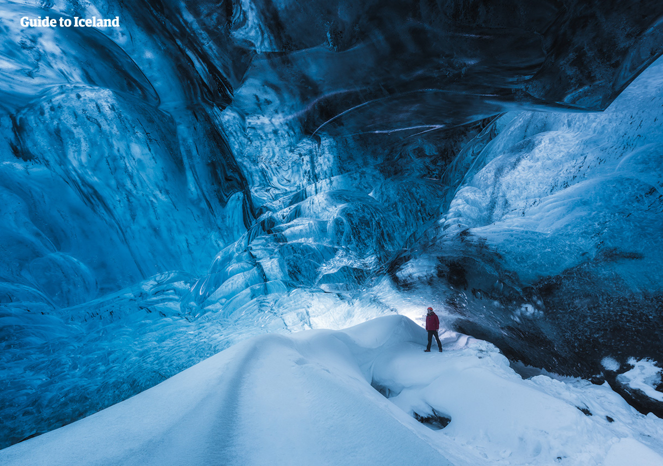 The ice caves beneath the glacier of Vatnajökull look so beautiful that they belong in a fantasy novel more than the real world.
