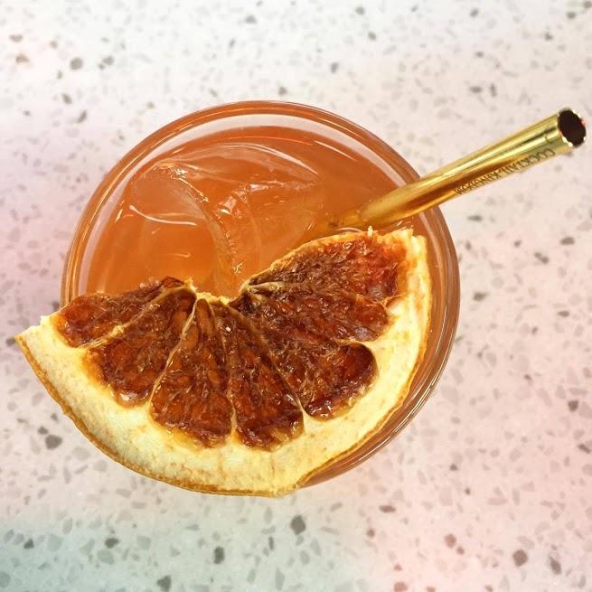 Delicious cocktail from SKÁL! at Hlemmur Mathöll Food Hall