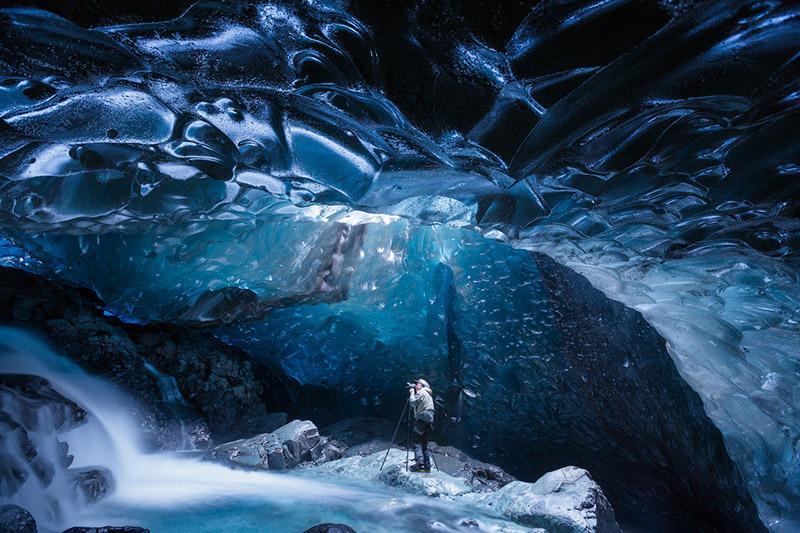 8日冬季摄影团|追极光拍蓝色冰洞