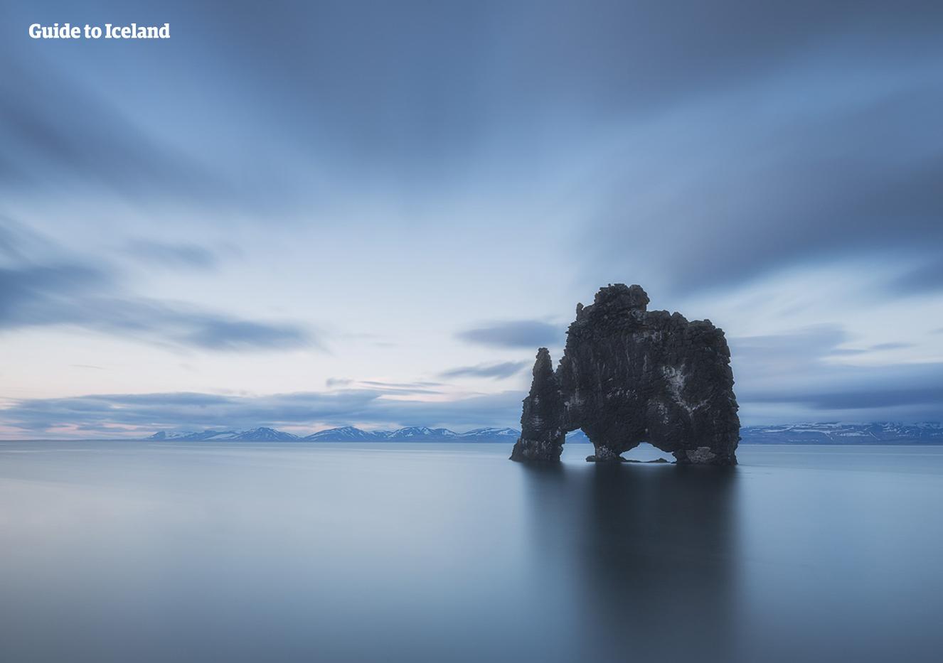 Hvitserkur is a rock on the Vatnsnes Peninsula that many photographers flock to.