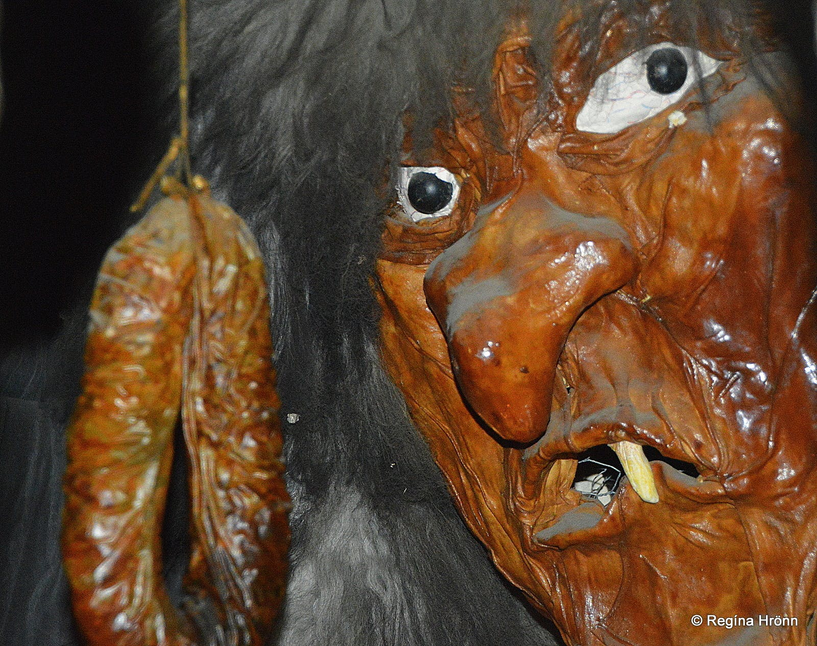 Gryla is a monstrous troll said to eat children over Christmas in Iceland.